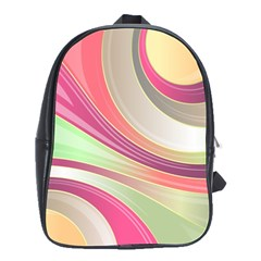 Abstract Colorful Background Wavy School Bags(large)