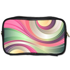 Abstract Colorful Background Wavy Toiletries Bags 2 Side