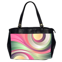 Abstract Colorful Background Wavy Office Handbags (2 Sides)