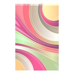 Abstract Colorful Background Wavy Shower Curtain 48  X 72  (small)