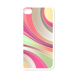 Abstract Colorful Background Wavy Apple Iphone 4 Case (white)