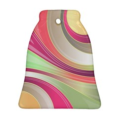 Abstract Colorful Background Wavy Bell Ornament (2 Sides)