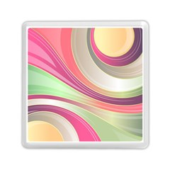 Abstract Colorful Background Wavy Memory Card Reader (square)