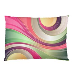 Abstract Colorful Background Wavy Pillow Case (two Sides)