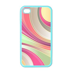 Abstract Colorful Background Wavy Apple Iphone 4 Case (color)