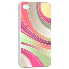 Abstract Colorful Background Wavy Apple Iphone 4/4s Seamless Case (white)