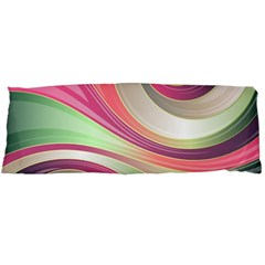 Abstract Colorful Background Wavy Body Pillow Case (dakimakura)