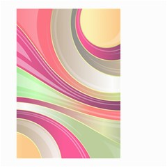 Abstract Colorful Background Wavy Small Garden Flag (two Sides)