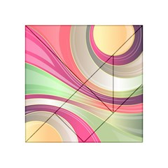 Abstract Colorful Background Wavy Acrylic Tangram Puzzle (4  X 4 )