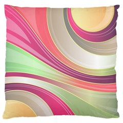 Abstract Colorful Background Wavy Large Cushion Case (one Side)