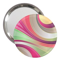 Abstract Colorful Background Wavy 3  Handbag Mirrors