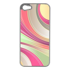 Abstract Colorful Background Wavy Apple Iphone 5 Case (silver)