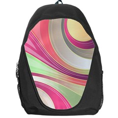 Abstract Colorful Background Wavy Backpack Bag