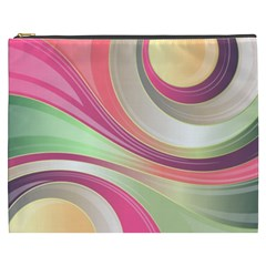 Abstract Colorful Background Wavy Cosmetic Bag (xxxl)