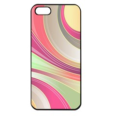 Abstract Colorful Background Wavy Apple Iphone 5 Seamless Case (black)