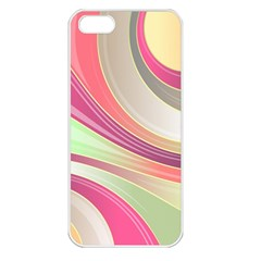 Abstract Colorful Background Wavy Apple Iphone 5 Seamless Case (white)