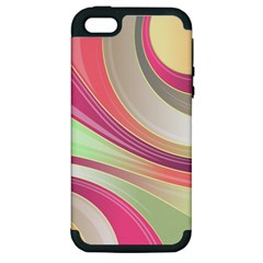 Abstract Colorful Background Wavy Apple Iphone 5 Hardshell Case (pc+silicone)