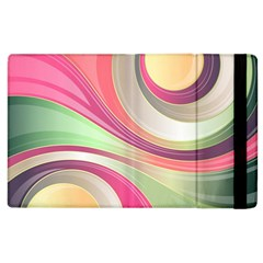 Abstract Colorful Background Wavy Apple Ipad 2 Flip Case