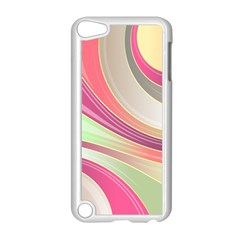 Abstract Colorful Background Wavy Apple Ipod Touch 5 Case (white)