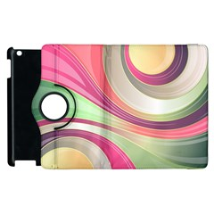 Abstract Colorful Background Wavy Apple Ipad 2 Flip 360 Case
