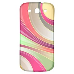 Abstract Colorful Background Wavy Samsung Galaxy S3 S Iii Classic Hardshell Back Case