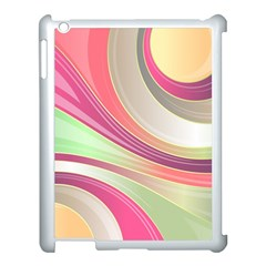 Abstract Colorful Background Wavy Apple Ipad 3/4 Case (white)