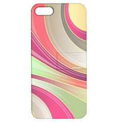 Abstract Colorful Background Wavy Apple Iphone 5 Hardshell Case With Stand