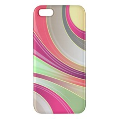 Abstract Colorful Background Wavy Apple Iphone 5 Premium Hardshell Case