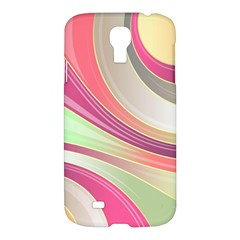 Abstract Colorful Background Wavy Samsung Galaxy S4 I9500/i9505 Hardshell Case