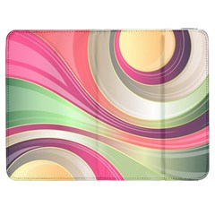Abstract Colorful Background Wavy Samsung Galaxy Tab 7  P1000 Flip Case