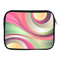 Abstract Colorful Background Wavy Apple Ipad 2/3/4 Zipper Cases