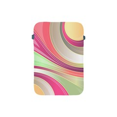 Abstract Colorful Background Wavy Apple iPad Mini Protective Soft Cases