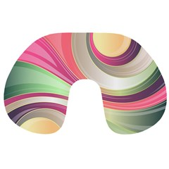 Abstract Colorful Background Wavy Travel Neck Pillows