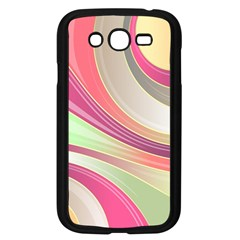 Abstract Colorful Background Wavy Samsung Galaxy Grand Duos I9082 Case (black)