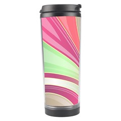 Abstract Colorful Background Wavy Travel Tumbler