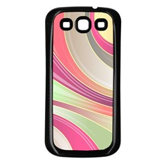 Abstract Colorful Background Wavy Samsung Galaxy S3 Back Case (black)
