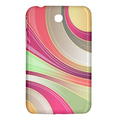 Abstract Colorful Background Wavy Samsung Galaxy Tab 3 (7 ) P3200 Hardshell Case