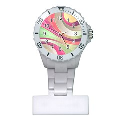 Abstract Colorful Background Wavy Plastic Nurses Watch