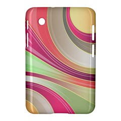 Abstract Colorful Background Wavy Samsung Galaxy Tab 2 (7 ) P3100 Hardshell Case