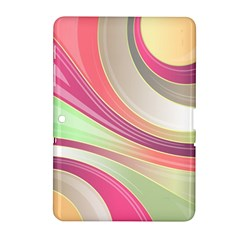 Abstract Colorful Background Wavy Samsung Galaxy Tab 2 (10 1 ) P5100 Hardshell Case