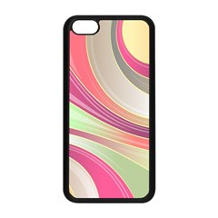 Abstract Colorful Background Wavy Apple Iphone 5c Seamless Case (black)