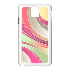 Abstract Colorful Background Wavy Samsung Galaxy Note 3 N9005 Case (white)