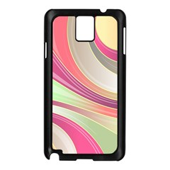 Abstract Colorful Background Wavy Samsung Galaxy Note 3 N9005 Case (black)