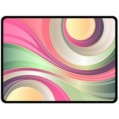 Abstract Colorful Background Wavy Double Sided Fleece Blanket (large)