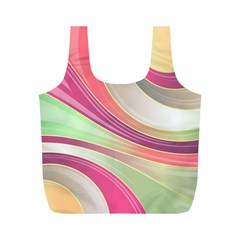 Abstract Colorful Background Wavy Full Print Recycle Bags (m)