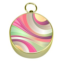 Abstract Colorful Background Wavy Gold Compasses