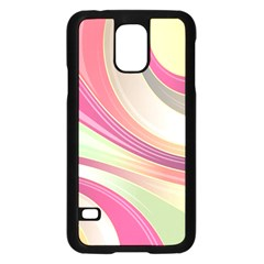 Abstract Colorful Background Wavy Samsung Galaxy S5 Case (black)