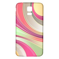 Abstract Colorful Background Wavy Samsung Galaxy S5 Back Case (white)