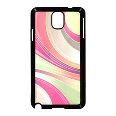 Abstract Colorful Background Wavy Samsung Galaxy Note 3 Neo Hardshell Case (black)