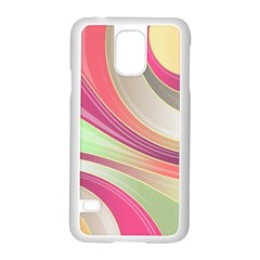 Abstract Colorful Background Wavy Samsung Galaxy S5 Case (white)